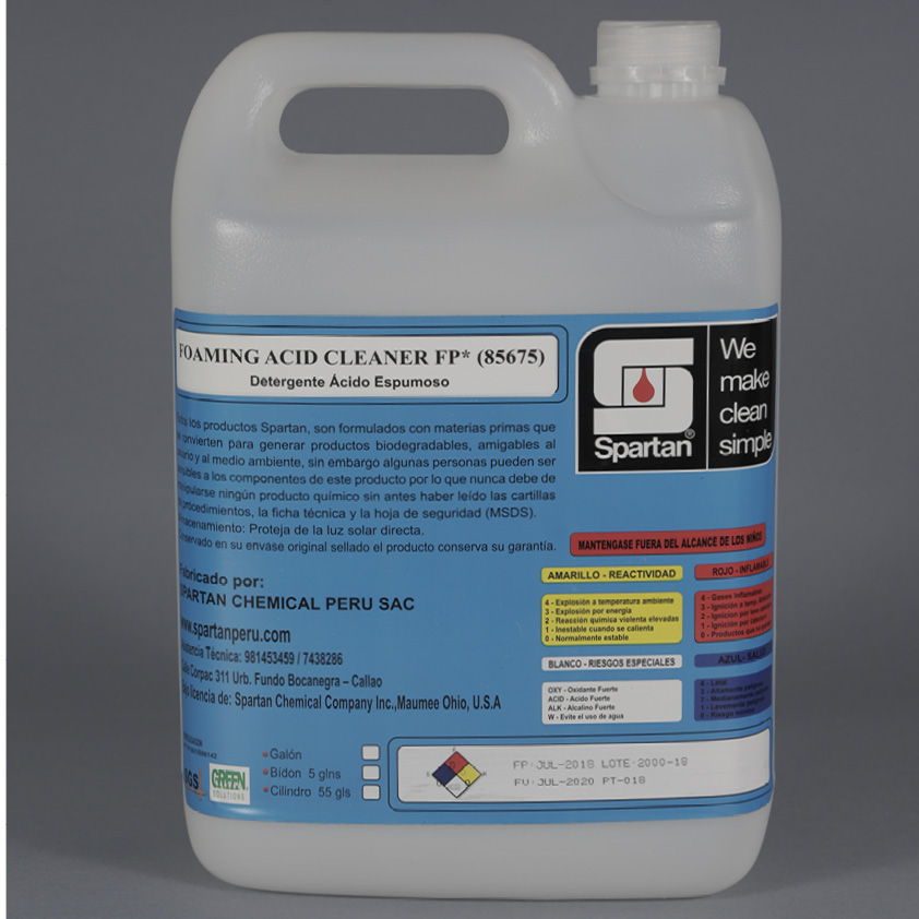 FOAMING ACID CLEANER FP – LIMPIADOR ÁCIDO AUTOESPUMANTE