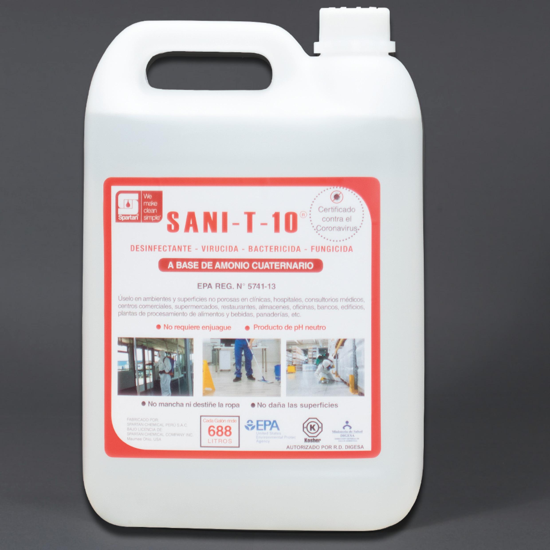 SANI-T-10 FP – Desinfectante a base de Amonio Cuaternario