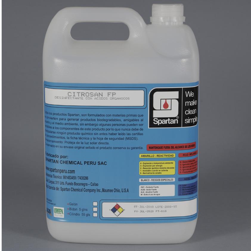 CITROSAN FP – Desinfectante con Ácidos Orgánicos