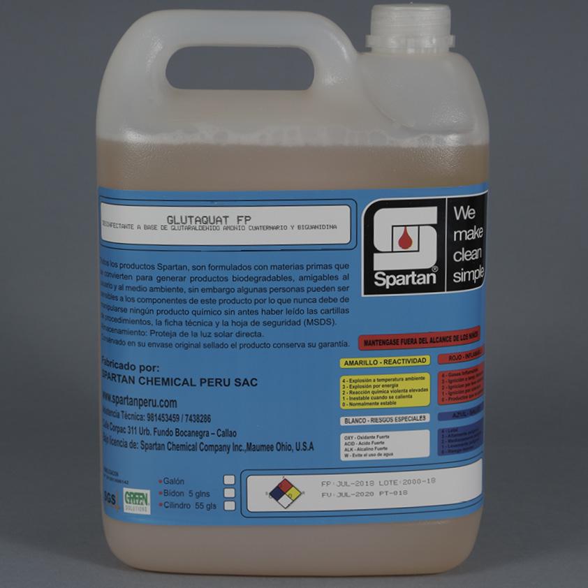 GLUTAQUAT FP – Desinfectante a base de  Glutaraldehído, Amonio Cuaternario y Biguanidina