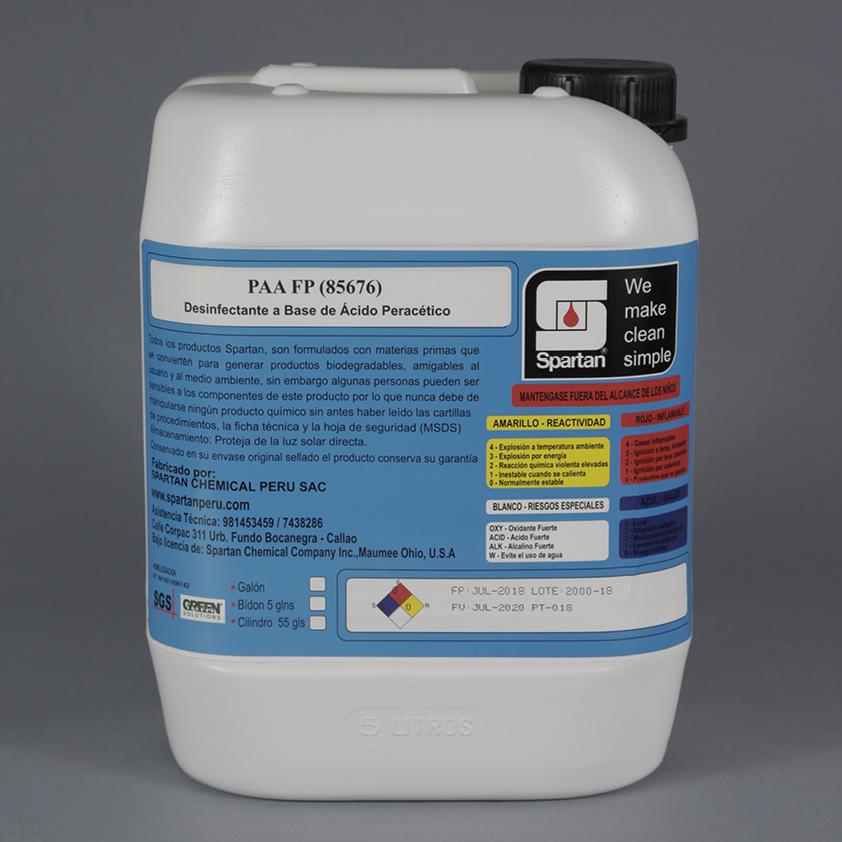 PAA FP – ÁCIDO PERACÉTICO – Desinfectante a base de Ácido Peracético
