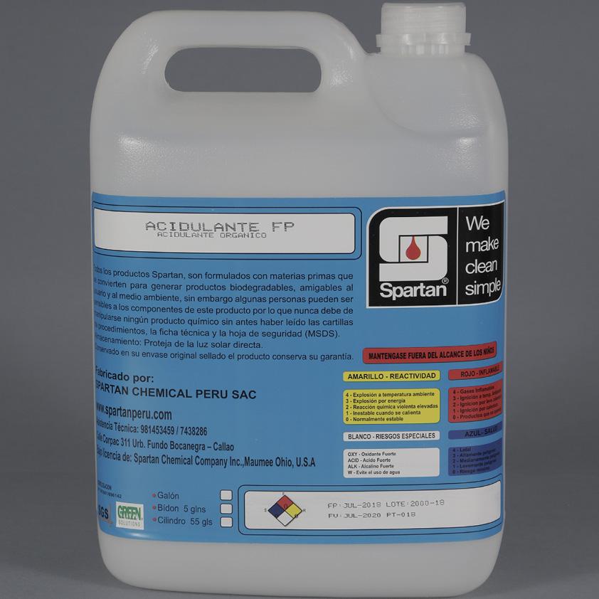 ACIDULANTE FP – Acidulante Orgánico
