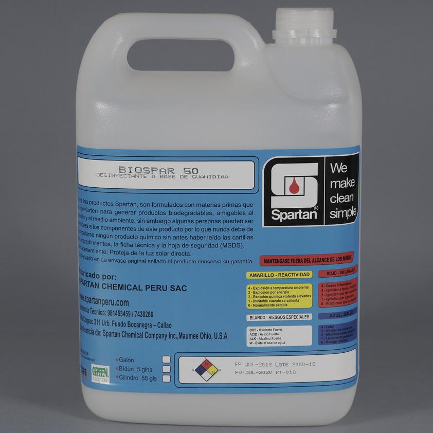 BIOSPAR 50 FP – Desinfectante a base de Biguanidina Polimérica