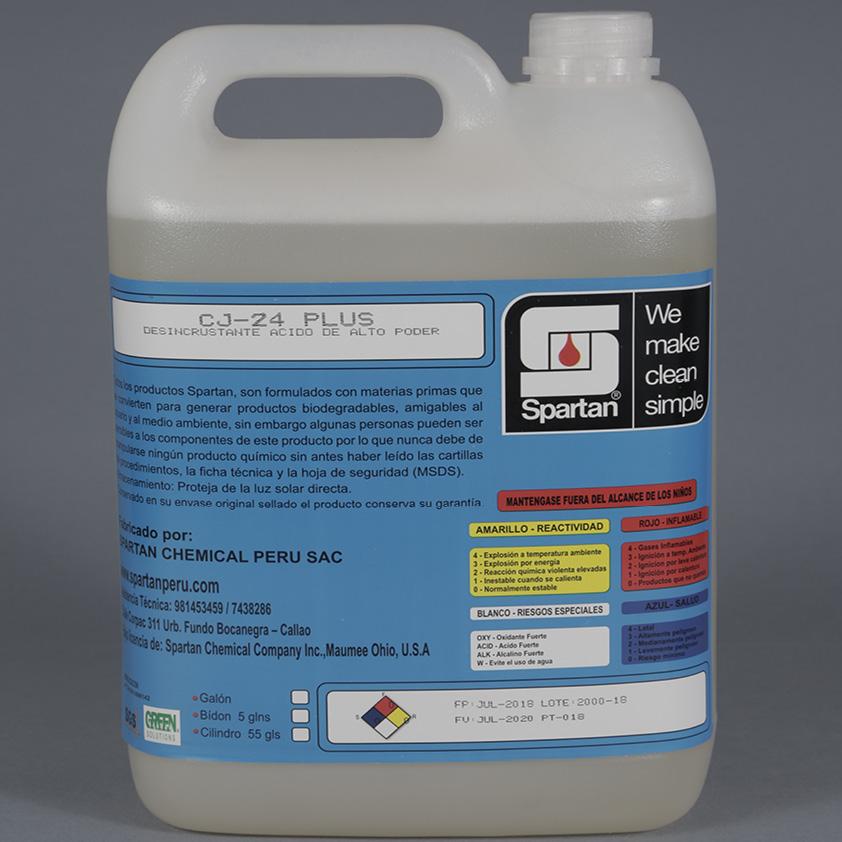 CJ-24 PLUS – Desincrustante ácido de Alto Poder