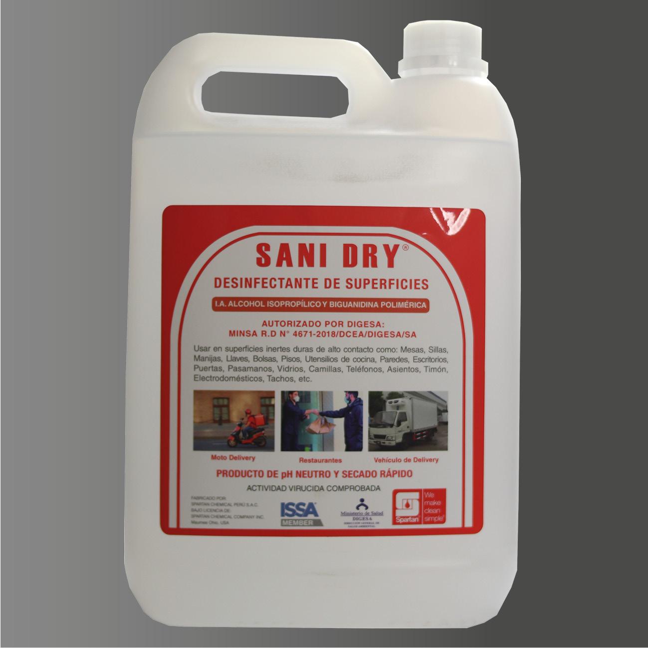 SANI – DRY – Desinfectante para aplicación en seco
