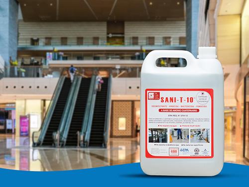 SANI T 10: Amonio Cuaternario al alcance de todos Cuenta con registro EPA y combate el Coronavirus